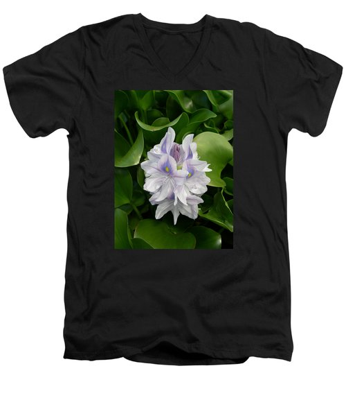 Men's V-Neck T-Shirt featuring the digital art Rare Hawain Water Lilly by Claude McCoy