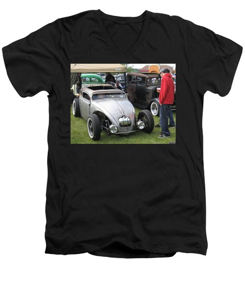 Men's V-Neck T-Shirt featuring the photograph Rat Rod Many Parts by Kym Backland