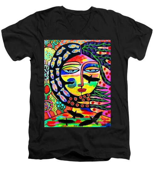 Raven Goddess Men's V-Neck T-Shirt