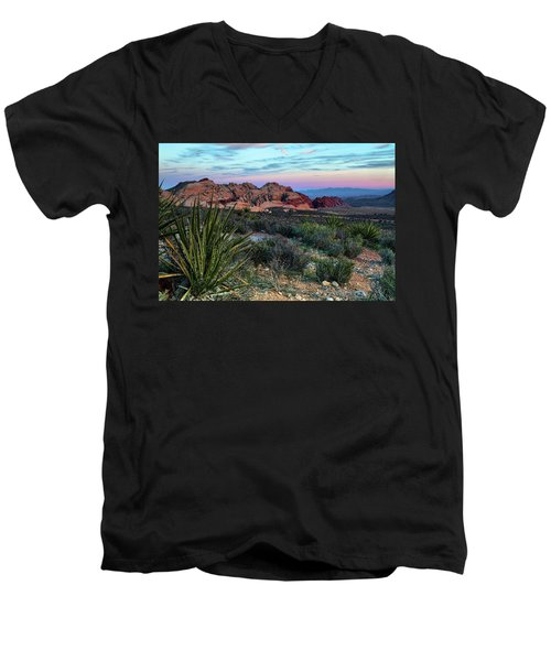 Red Rock Sunset II Men's V-Neck T-Shirt