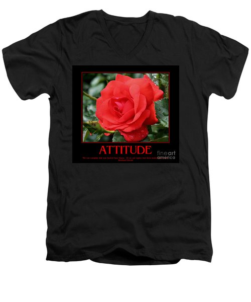 Red Rose Attitude Men's V-Neck T-Shirt