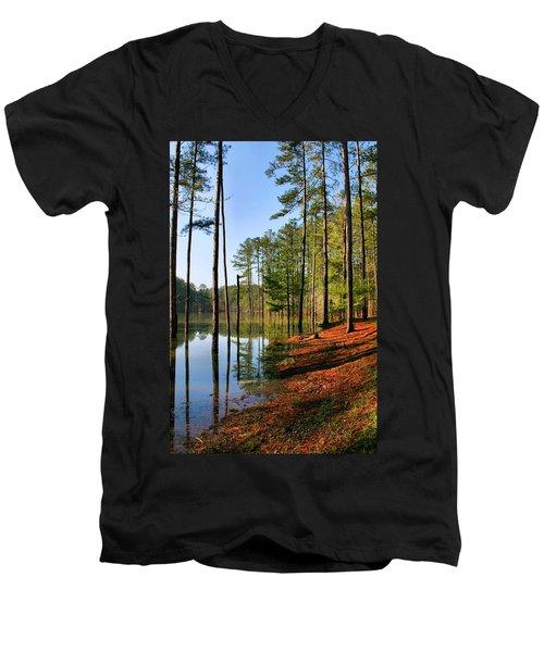 Red Top Mountain Men's V-Neck T-Shirt