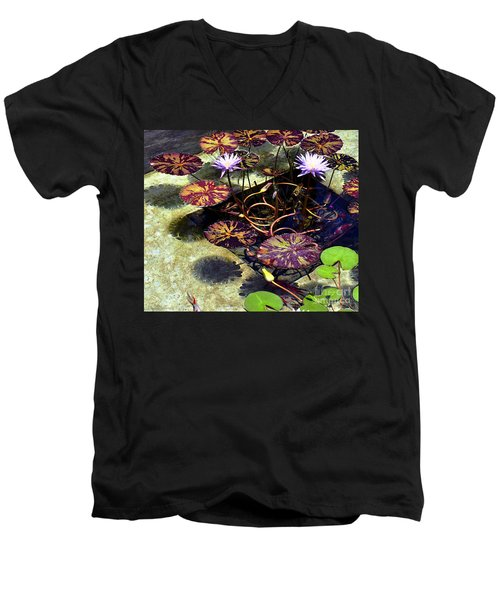 Men's V-Neck T-Shirt featuring the photograph Reflections On Underwater Life by Clayton Bruster