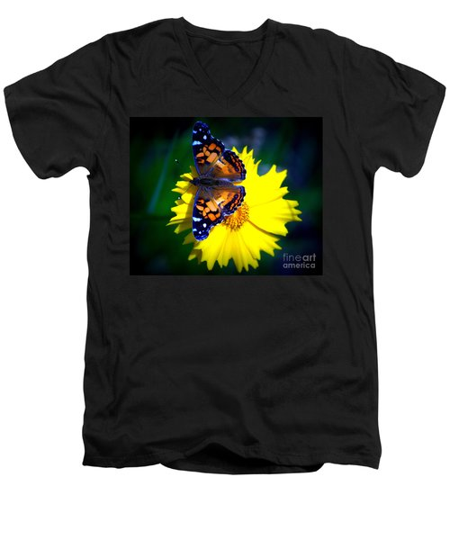 Resting Butterfly Men's V-Neck T-Shirt by Kevin Fortier