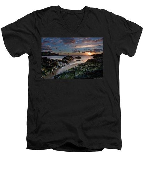 Rhosneigr Sunset  Men's V-Neck T-Shirt