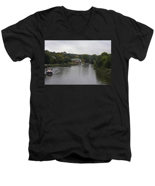 Men's V-Neck T-Shirt featuring the photograph Richmond Cruise by Maj Seda
