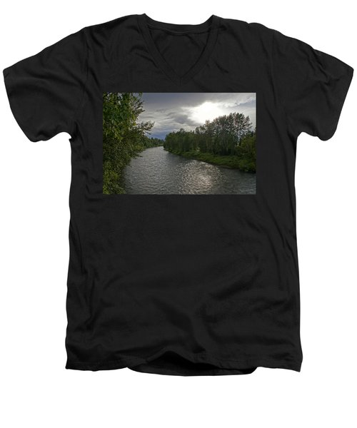 Rogue River In May Men's V-Neck T-Shirt