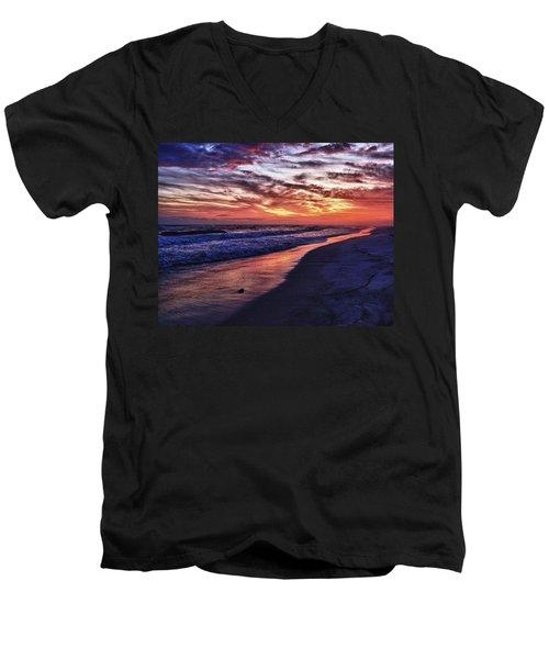 Romar Beach Sunset Men's V-Neck T-Shirt