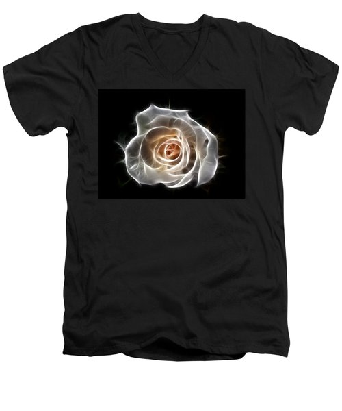 Rose Of Light Men's V-Neck T-Shirt