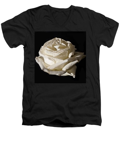 Men's V-Neck T-Shirt featuring the photograph Rose Silver Anniversary by Steve Purnell