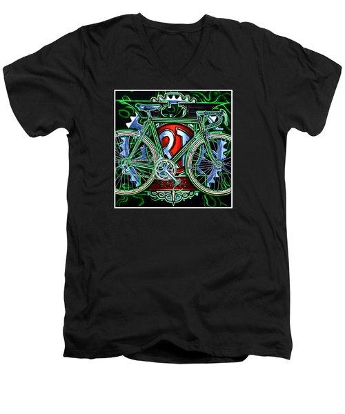 Rotrax Men's V-Neck T-Shirt by Mark Jones