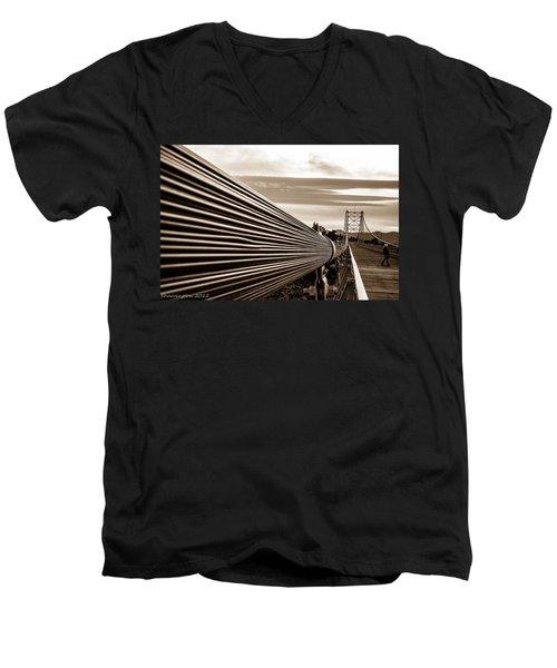 Royal Gorge Bridge Men's V-Neck T-Shirt by Shannon Harrington
