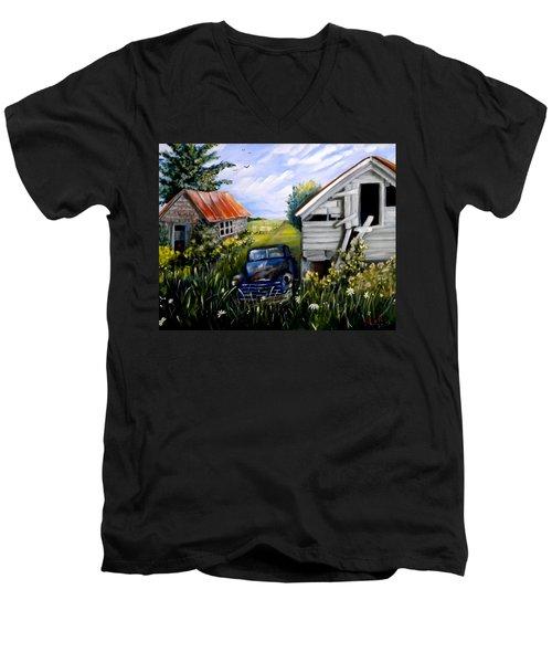 Rustic Partners Men's V-Neck T-Shirt by Renate Nadi Wesley