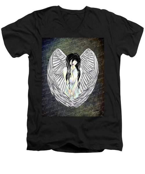 Sad Angel Men's V-Neck T-Shirt