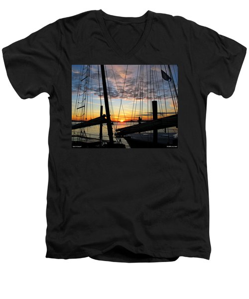 Sail At Sunset Men's V-Neck T-Shirt