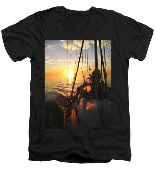 Sailing Men's V-Neck T-Shirt by Anne Mott