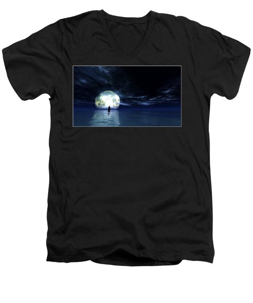 Sailing At Night... Men's V-Neck T-Shirt