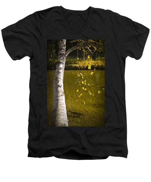 Salmon During The Fall Migration In The Little Manistee River In Michigan No. 0887 Men's V-Neck T-Shirt