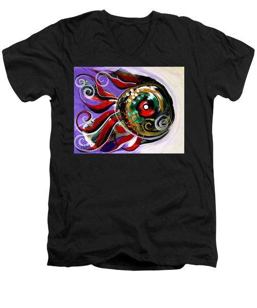 Salvador Dali Octo Fish Men's V-Neck T-Shirt