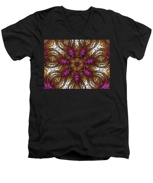 Scorpion Sunset Men's V-Neck T-Shirt by Alec Drake