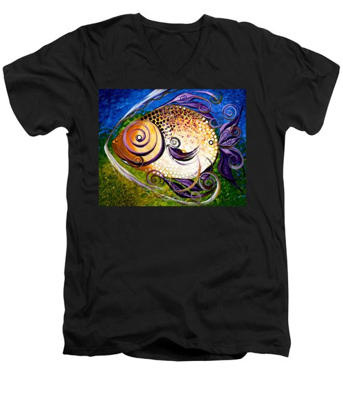 Seagrass And Sultry Non-subtlety Men's V-Neck T-Shirt
