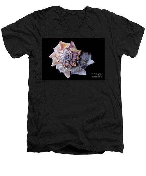 Men's V-Neck T-Shirt featuring the photograph Seashell 5 by Deniece Platt
