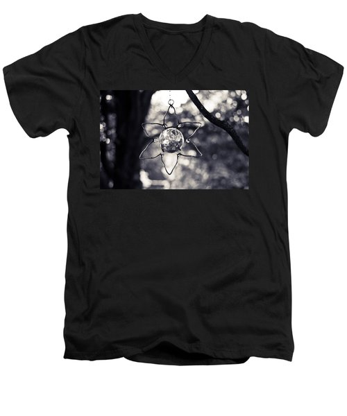 Men's V-Neck T-Shirt featuring the photograph Serendipity by Sara Frank