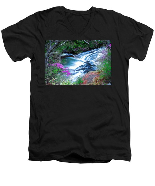 Serenity Flowing Men's V-Neck T-Shirt