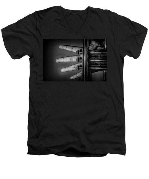 Men's V-Neck T-Shirt featuring the photograph Sforzando by Tom Gort