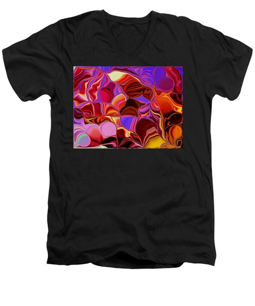 Shades Of Satin Men's V-Neck T-Shirt by Renate Nadi Wesley