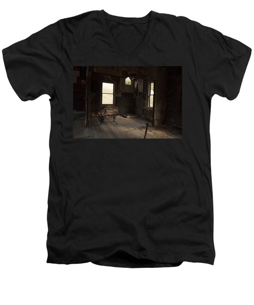 Men's V-Neck T-Shirt featuring the photograph Shadows Of Time by Fran Riley