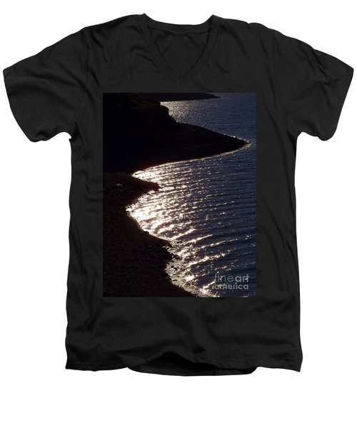 Shining Shoreline Men's V-Neck T-Shirt