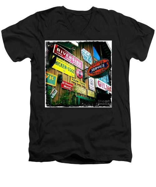 Men's V-Neck T-Shirt featuring the photograph Signs Of A Great Place by Nina Prommer