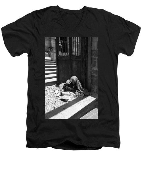 Silent Desperation Men's V-Neck T-Shirt by Lynn Palmer