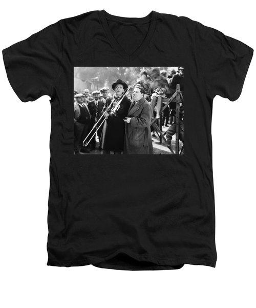 Silent Still: Musicians Men's V-Neck T-Shirt