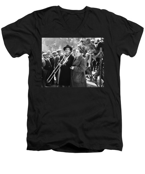 Silent Still: Musicians Men's V-Neck T-Shirt by Granger