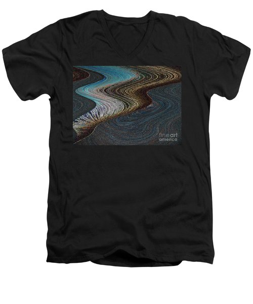 Men's V-Neck T-Shirt featuring the photograph Silver Bay by Ausra Huntington nee Paulauskaite