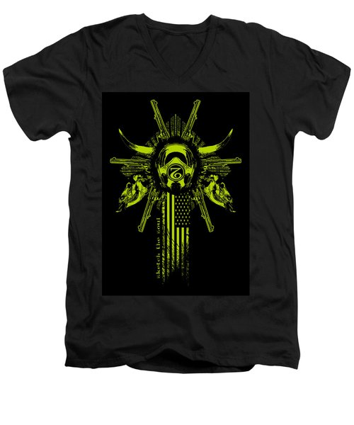 Six Shooter Men's V-Neck T-Shirt by Tony Koehl
