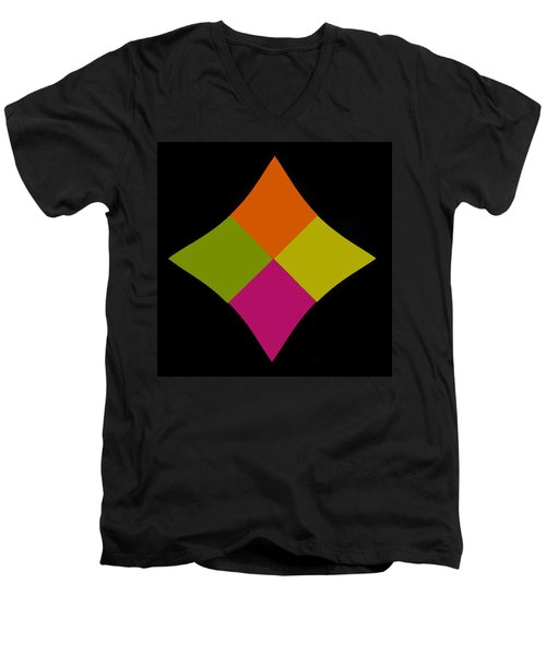 Men's V-Neck T-Shirt featuring the photograph Six Squared At A Pinch by Steve Purnell
