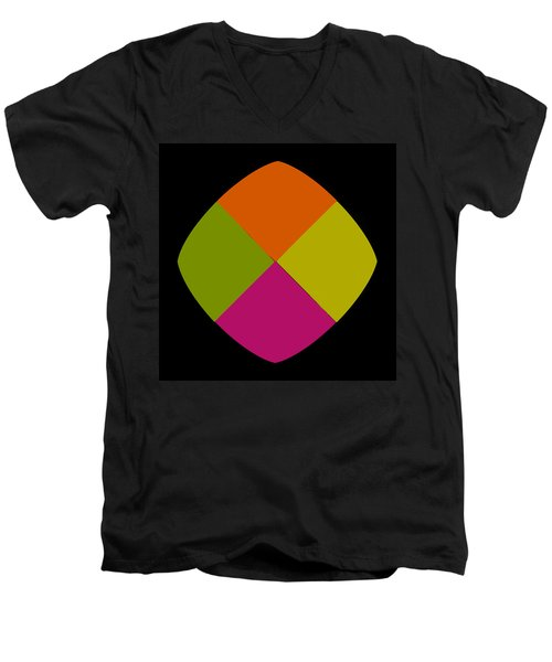 Men's V-Neck T-Shirt featuring the photograph Six Squared Blowout by Steve Purnell