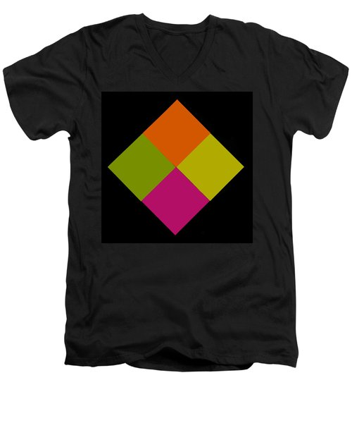 Men's V-Neck T-Shirt featuring the photograph Six Squared by Steve Purnell