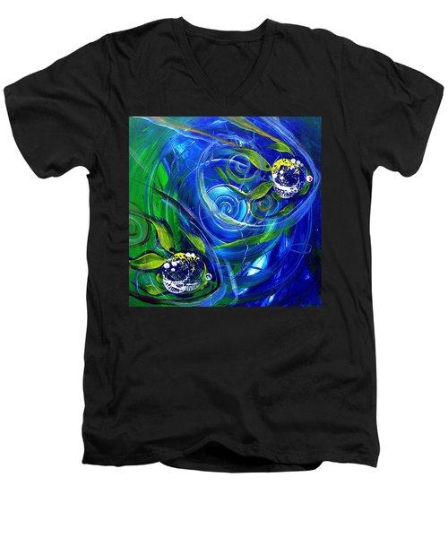 Six Subtle Ups And Downs 3 Men's V-Neck T-Shirt