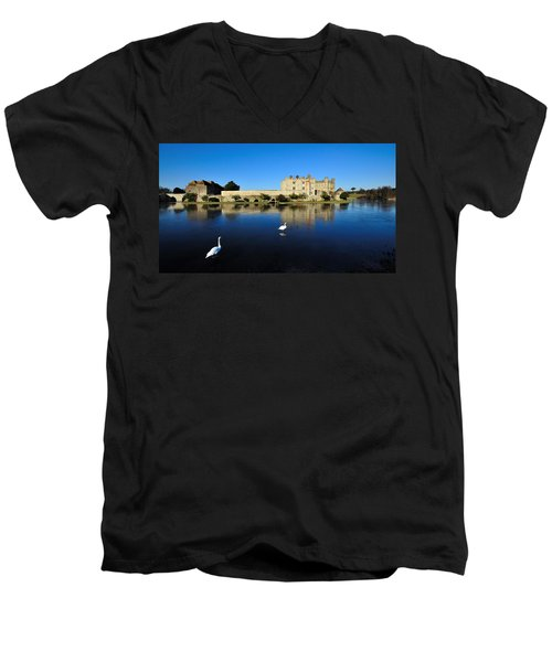 Skating Swans Men's V-Neck T-Shirt