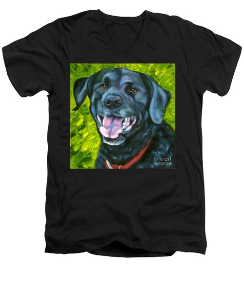 Smiling Lab Men's V-Neck T-Shirt