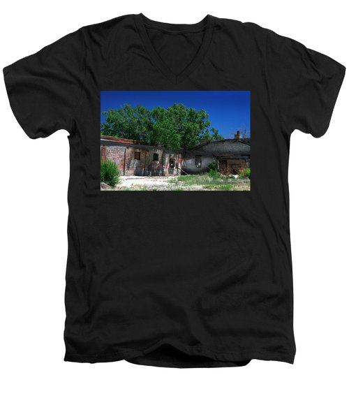 Men's V-Neck T-Shirt featuring the photograph Somewhere On Hwy 285 Number Three by Lon Casler Bixby