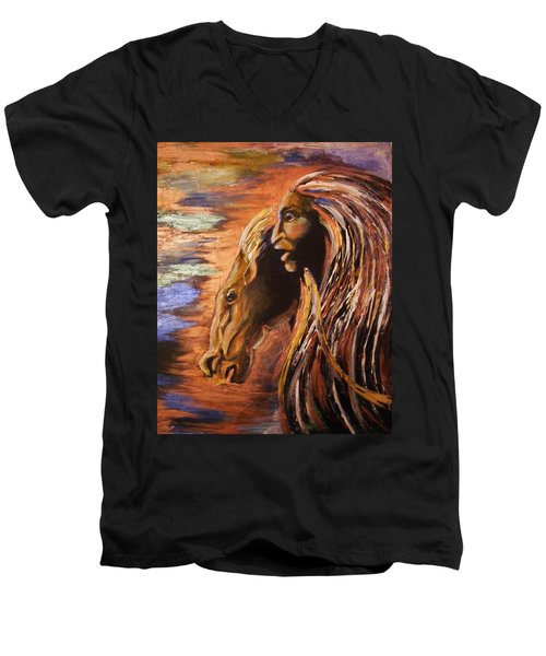 Soul Of Wild Horse Men's V-Neck T-Shirt