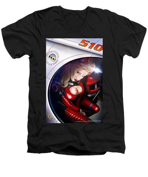 Space Girl Men's V-Neck T-Shirt