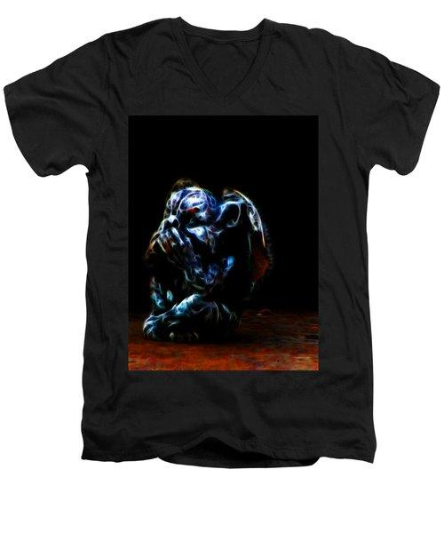 Speak No Evil Gargoyle Men's V-Neck T-Shirt
