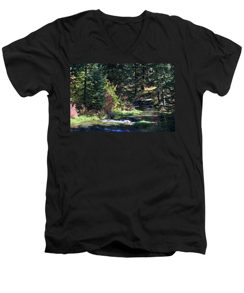 Spearfish Canyon Men's V-Neck T-Shirt