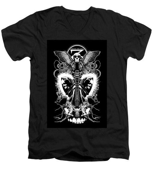 Spine Of Mine Men's V-Neck T-Shirt by Tony Koehl